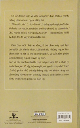 "The back cover of the Vietnamese edition of ""In Whose Eyes""."